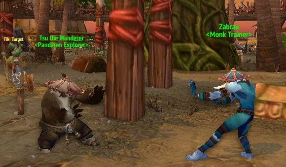 Pandaren and Monk Trainers appear in Start Zones