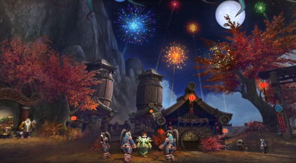 Fireworks over Pandaria