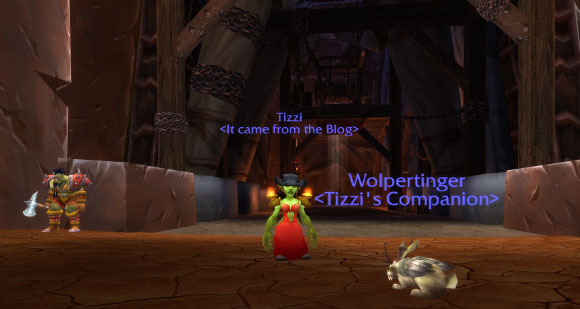 Tizzi in front of Orgrimmar