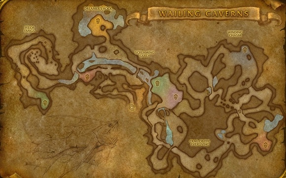 Wailing Caverns map