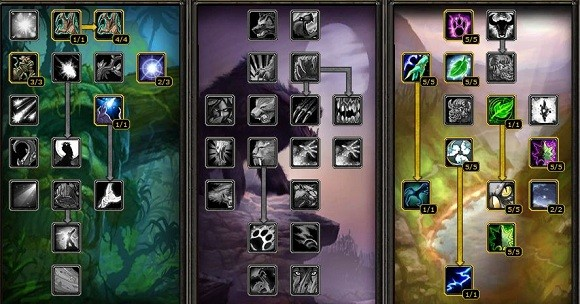 Vanilla druid talent trees