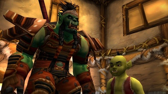 An orc father and son