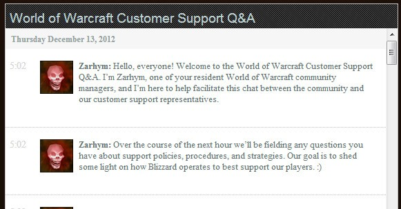 Blizzard Customer Support Live Q&A
