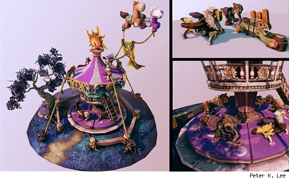 Student artist's Darkmoon carousel stuns Blizzard, earns internship