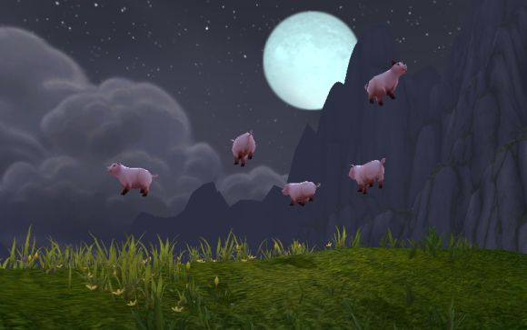 Around Azeroth When pigs fly TUESDAY