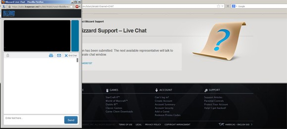 Blizzard introduces Live Web Chat support 