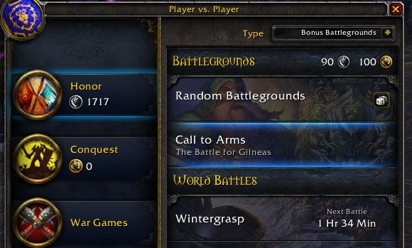 Patch 52 PTR PvP Interface gets a makeover