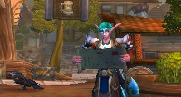 Night elf reading