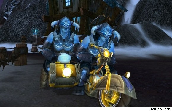 Two vrykul on a chopper