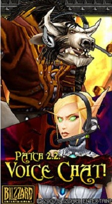 Tauren and elf with headsets