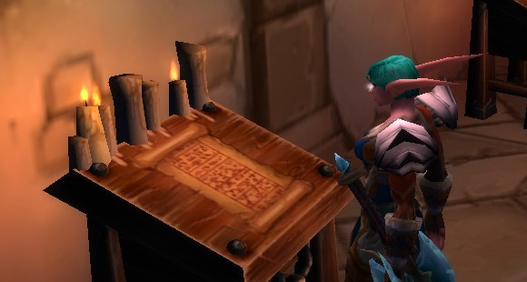 nelf with scroll