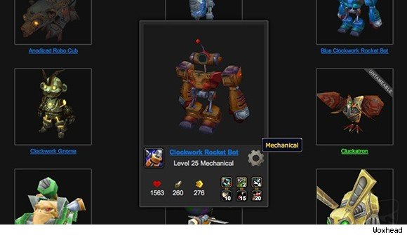 Wowhead releases new battle pet tools