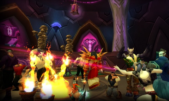 Players rave to underground goblin techno at Gadgetzan's Club Trix