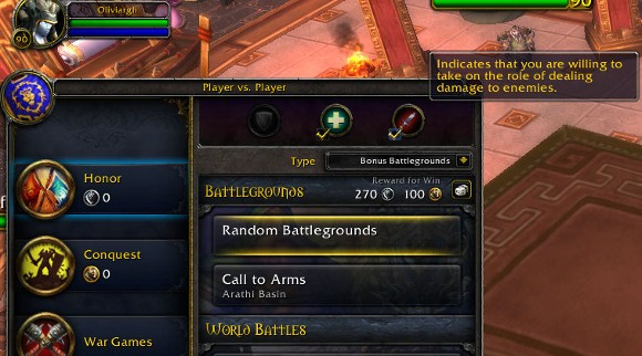 Patch 53 PTR Role Check in Battleground queues