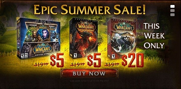 World of Warcraft summer sale