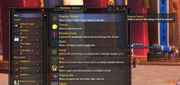 Addon Spotlight Buff monitoring with Weak Auras