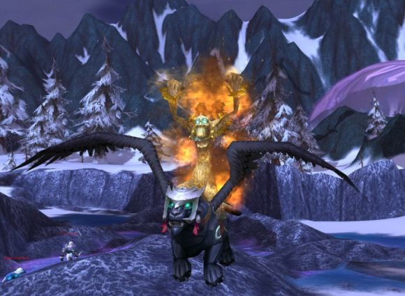 Around Azeroth This tree's on fire