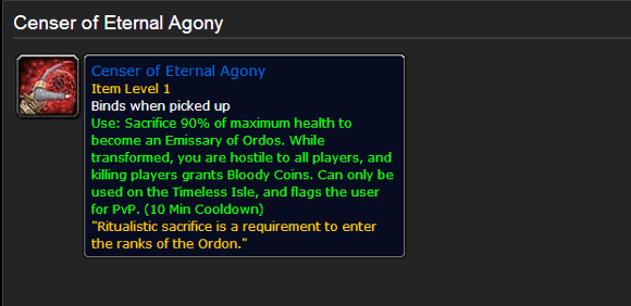 Patch 54 PTR The everburning fires hunger for sacrifices