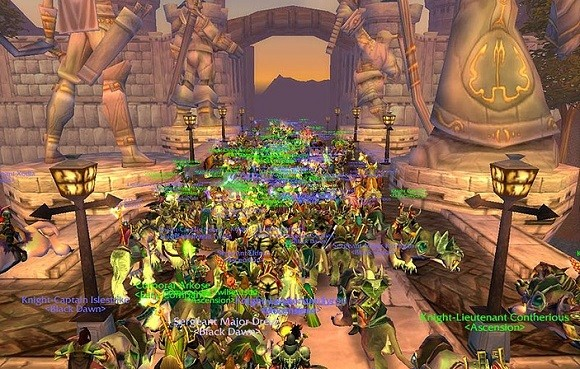Hundreds of players in Stormwind