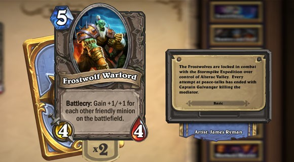 Hearthstone Highlight Frostwolf Warlord