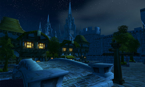 Stormwind at night