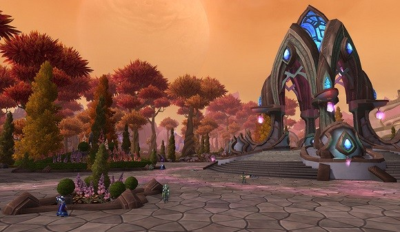 Town square somewhere in Draenor