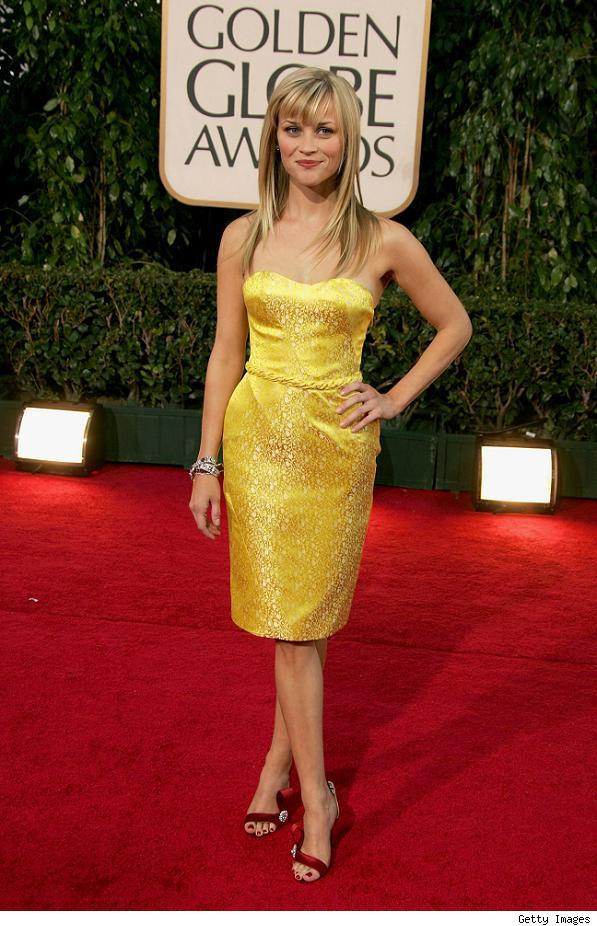 reese witherspoon yellow dress red. Reese Wither spoon in in Nina
