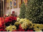 Holiday weddings take advantage of existing decorations