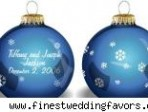 Favor file: Holiday ornaments as a centerpiece and gift for guests
