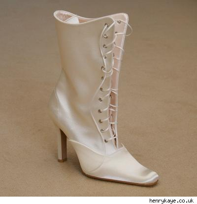 Victorian-style wedding boot