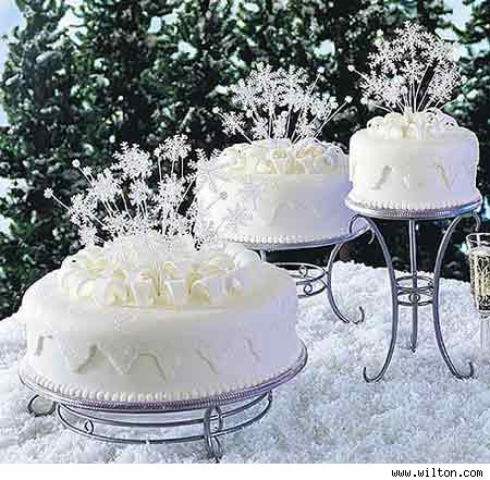 Snowflake Wedding Cakes Toppers
