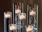 Tealight centerpieces for the romantic