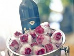 How to make rose ice cubes