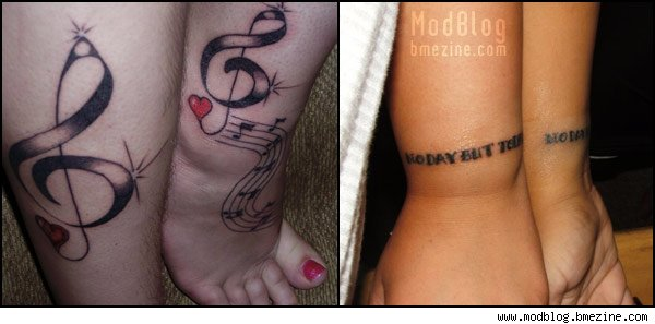 unique music tattoo bubble letter tattoos