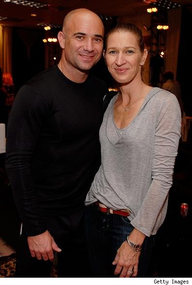 ... champ Steffi Graf in a private ceremony held at their Las Vegas home