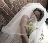bride in veil