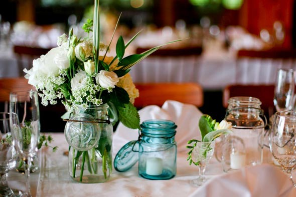 Mason Jar Wedding Decor - Kate Whelan Events : Kate Whelan Events