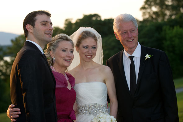 chelsea clinton wedding dress david. The wedding dress was an ivory