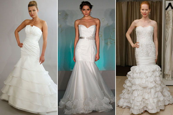 wedding dresses by silhouette dropped waist