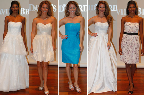 In addition to wedding dresses the bridal party can also be outfitted in