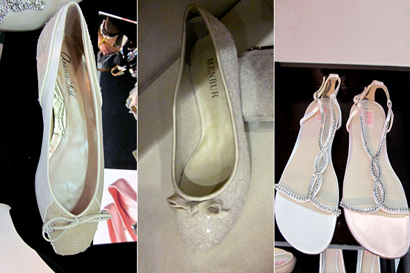 Dressy wedding flats are a great option to change into either after the