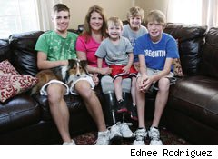 meningitis survivor Maggi Pivovar and her family