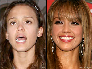 Jessica Alba natural beauty and makeup face