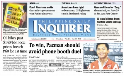 Manny Pacquiao-David Diaz Fight the Top Story in the Philippines