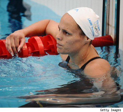 At the 2004 Summer Olympics, French swimmer Laure Manaudou appeared poised ...
