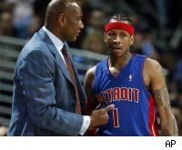 Michael Curry and Allen Iverson