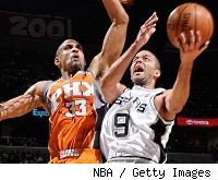 Tony Parker and Grant Hill