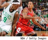 Derrick Rose and Rajon Rondo