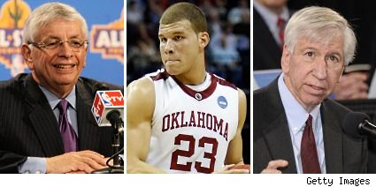 David Stern, Blake Griffin and Myles Brand