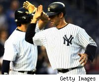 Yankees catcher Jorge Posada could be on the shelf for a while after leaving Monday's game with a hamstring injury.